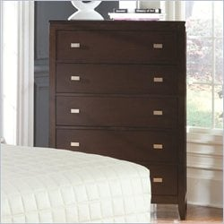 Coaster Calvin 5 Drawer Chest in Cappuccino Finish
