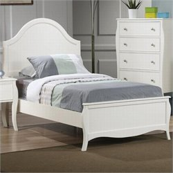 Coaster Dominique Youth Bed in White Finish - Twin Size