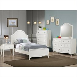 Coaster Dominique 6 Piece Bedroom Set in White Finish