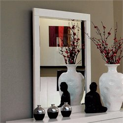 Coaster Jessica Wall Mirror in White