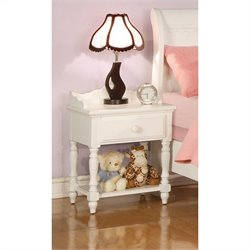 Coaster Pepper Night Stand in White
