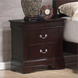 Coaster Louis Philippe 2 Drawer Nightstand in Cappuccino