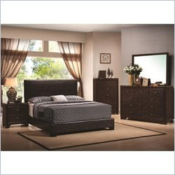 Coaster Conner 4 Piece Bedroom Set in Walnut Finish