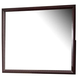 Coaster Serenity Rectangular Mirror in Rich Merlot Finish