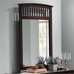 Coaster Tia Vertical Mirror in Warm Cappuccino Finish