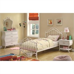 Coaster Bella 3 Piece Bedroom In White