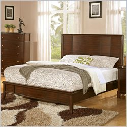 Coaster Addley Low Profile Panel Bed in Dark Cherry - California King