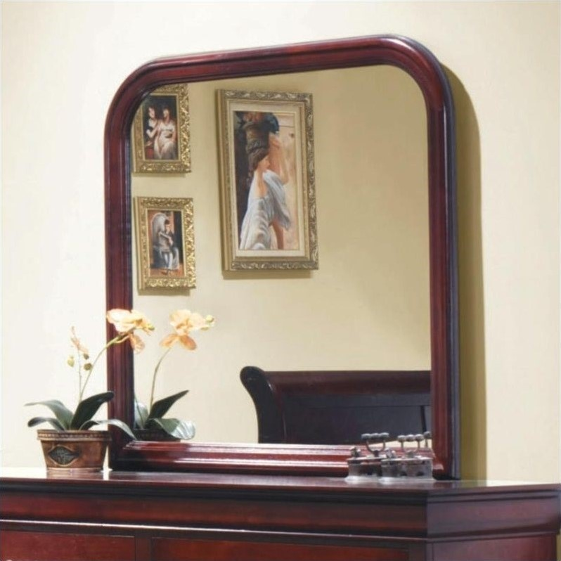 Coaster Louis Philippe Vertical Mirror in Rich Cherry