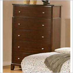 Coaster Addley Five Drawer Chest in Dark Cherry