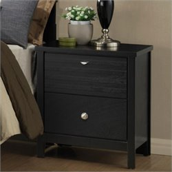 Coaster Richmond Two Drawer Nightstand in Black