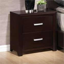 Coaster Andreas Two Drawer Nightstand in Cappuccino Brown