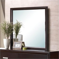 Coaster Andreas Square Dresser Mirror in Cappuccino Brown