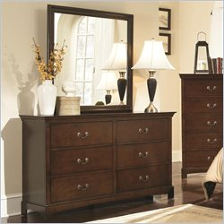 Coaster Tatiana Dresser and Mirror Set in Espresso