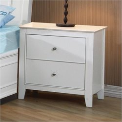 Coaster Selena 2 Drawer Nightstand in White Finish