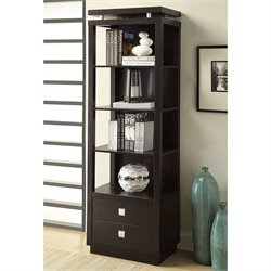 Coaster Wall Units 4 Shelf Media Tower in Cappuccino Finish