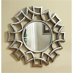 Coaster Starburst Accent Mirror in Silver Finish