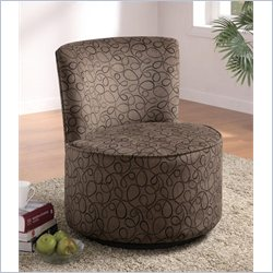 Coaster Swirly Print Round Swivel Chair