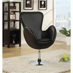 Coaster Leisure Swivel Chair in Black