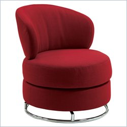 Coaster Thick Padded Accent Chair in Red