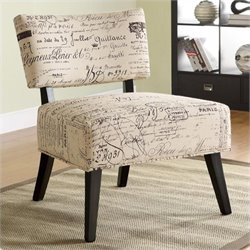 Coaster Over-Sized Accent Chair with French Script Pattern