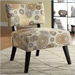 Coaster Over-Sized Swirl Pattern Accent Chair