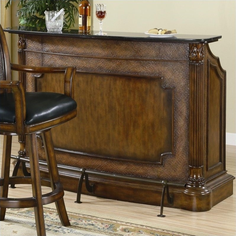 Coaster Clarendon Home Bar Unit in Brown