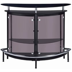 Coaster Contemporary Bar Unit with Smoked Acrylic Front