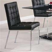 Coaster Rolien Vinyl Chair in Black