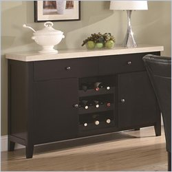 Coaster Anisa Server with Wine Rack