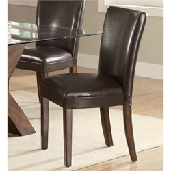 Coaster Nessa Parson Dining Chair in Deep Brown Vinyl