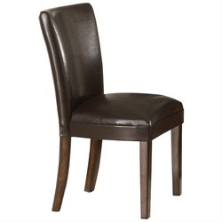 Coaster Nessa Parson Chair in Deep Brown Vinyl