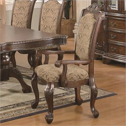 Coaster Andrea Upholstered Arm Dining Chair