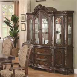Coaster Andrea China Cabinet in Warm Brown