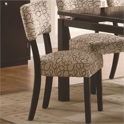 Coaster Libby Side Chair in Dark Cappuccino Finish