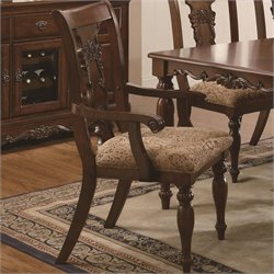 Coaster Addison Splat Back Arm Dining Chair