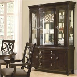 Coaster Meredith Buffet with Hutch in Espresso
