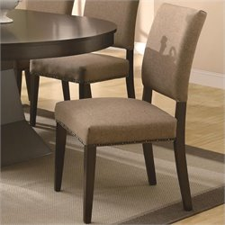 Coaster Myrtle  Dining Chair in Rich Coffee Finish