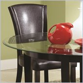 Coaster Dining Upholstered Side Chair in Brown