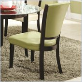 Coaster Dining Upholstered Side Chair in Green
