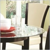 Coaster Dining Upholstered Side Chair in Ivory