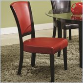 Coaster Dining Upholstered Side Chair in Red