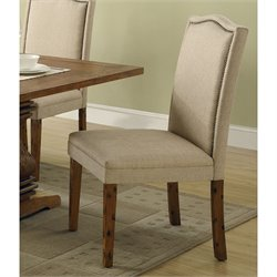 Coaster Parkins Parson Dining Chair in Coffee Finish