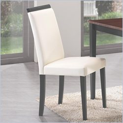 Coaster Pompeo Dining Side Chair in Cream