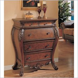 Coaster Secretary Cabinet with Drop Lid in Brown