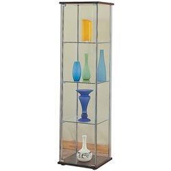 Coaster Glass Curio Cabinet in Cappuccino