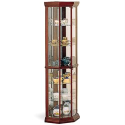 Coaster Solid Wodd Curio in Cherry