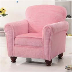 Coaster Kids Upholstered Accent Chair in Pink