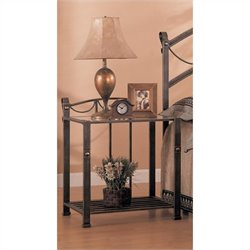 Coaster Whittier Iron Nightstand with Shelf in Antique Brass