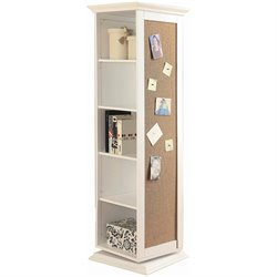 Coaster Swivel Storage Cabinet with Cork Board in White