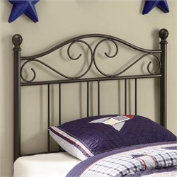 Coaster Youth Headboards Twin Metal Headboard in Brown